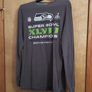 NFL Seahawks Size XL Men's Gray Long Sleeve